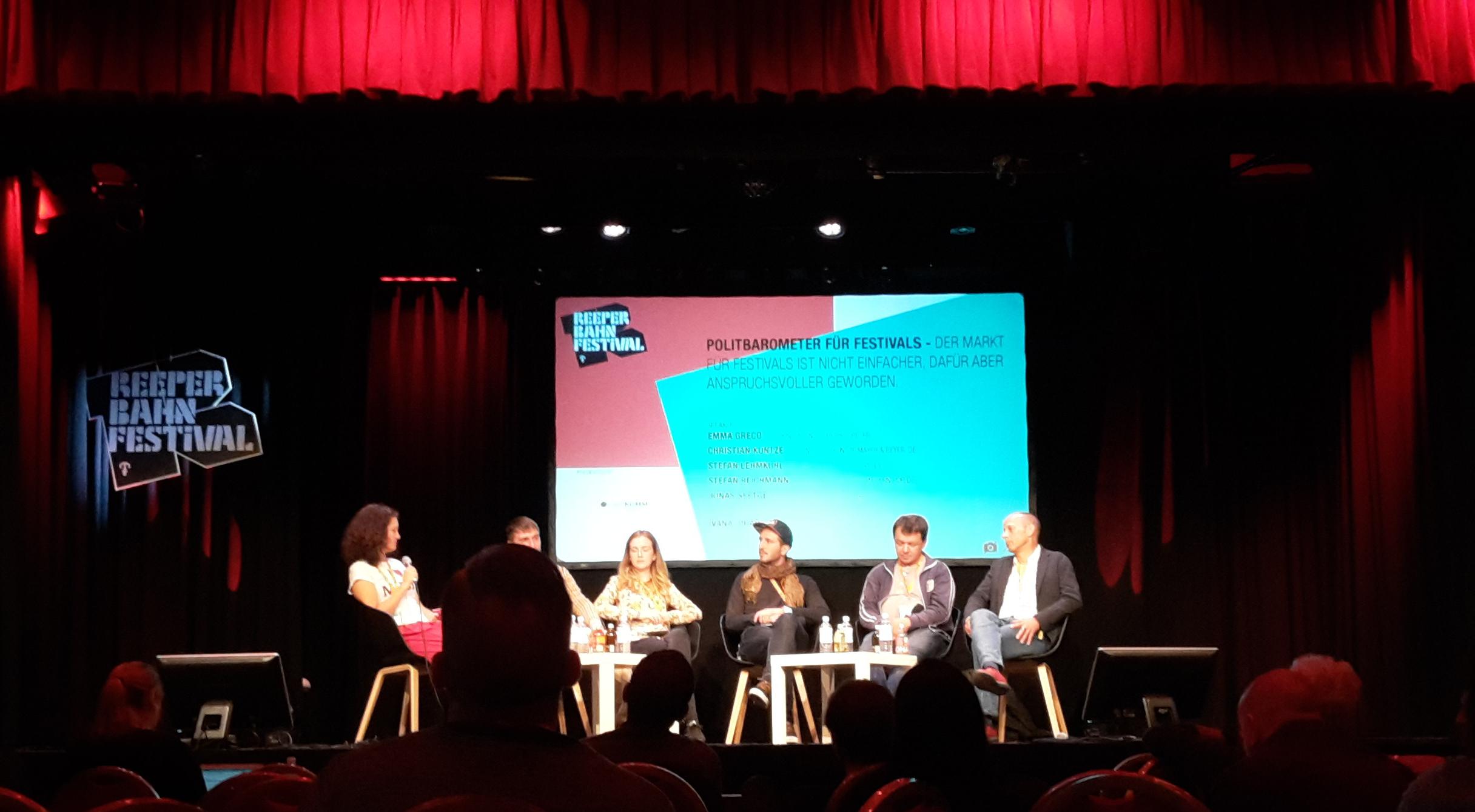 Politbarometer für Festivals - Panel beim Reeperbahn Festival 2017
